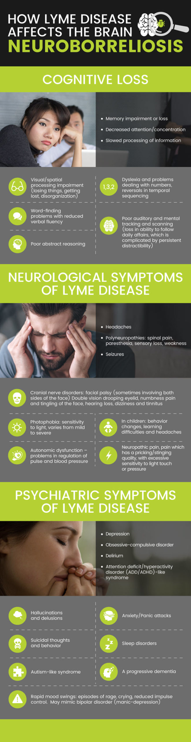 How Lyme disease affects the brain infographic