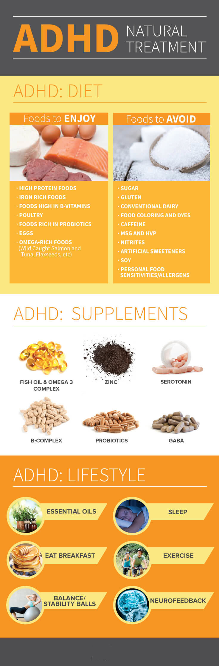 ADHD Natural Treatment Infographic Chart - MKexpress.net