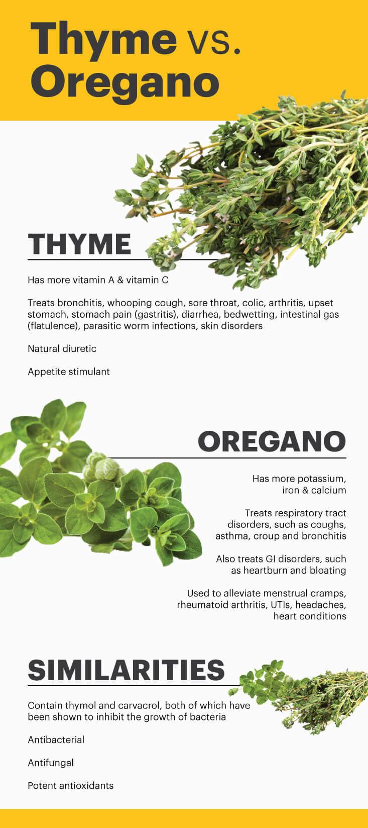 Thyme vs. oregano