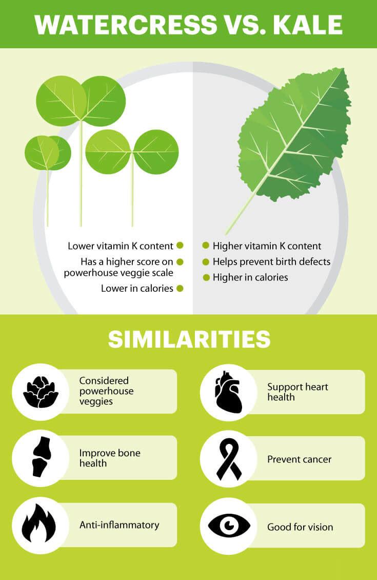 Watercress vs. kale