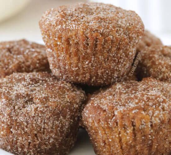 Cinnamon Sugar Pumpkin Donut Holes
