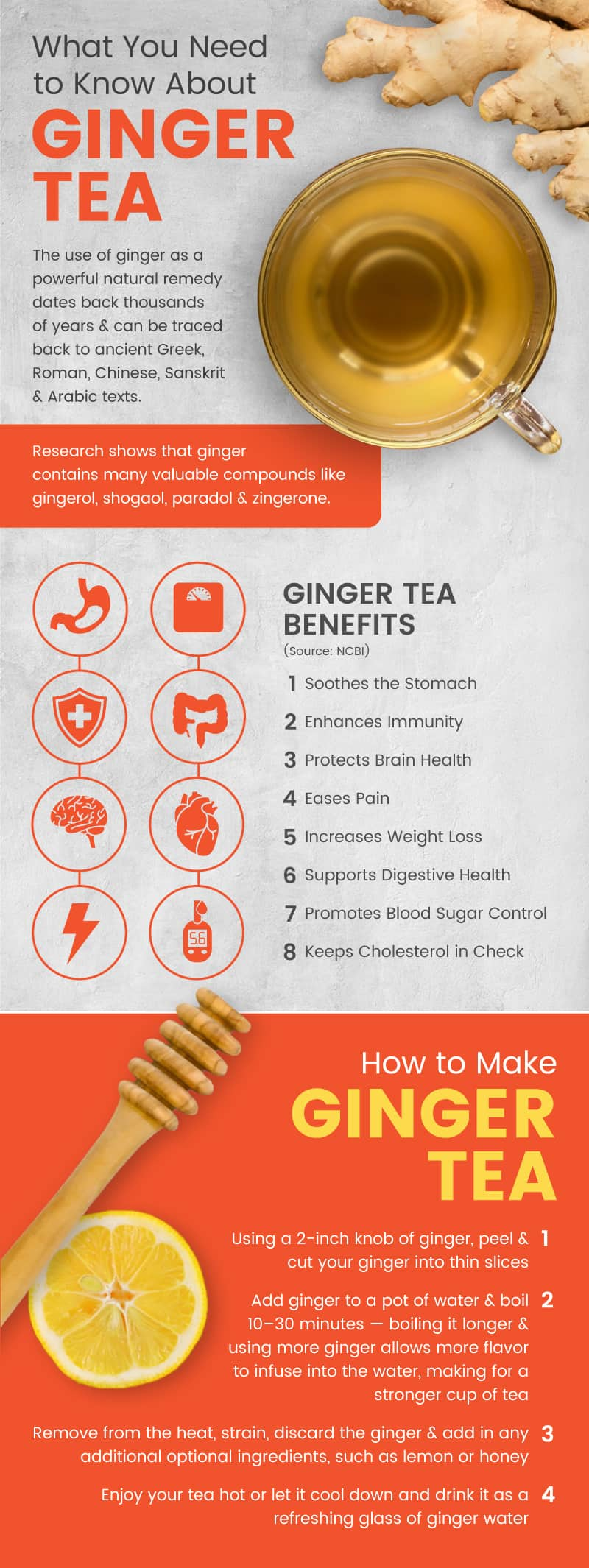 Ginger tea benefits - Dr. Axe