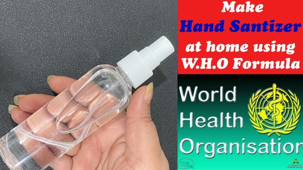 WHO Hand Sanitizer Formula